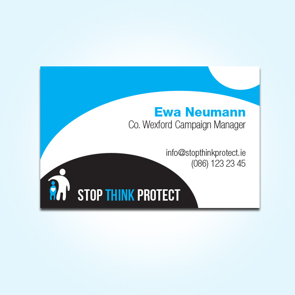 Social Awareness Campaign Stop Think Protect – Concept