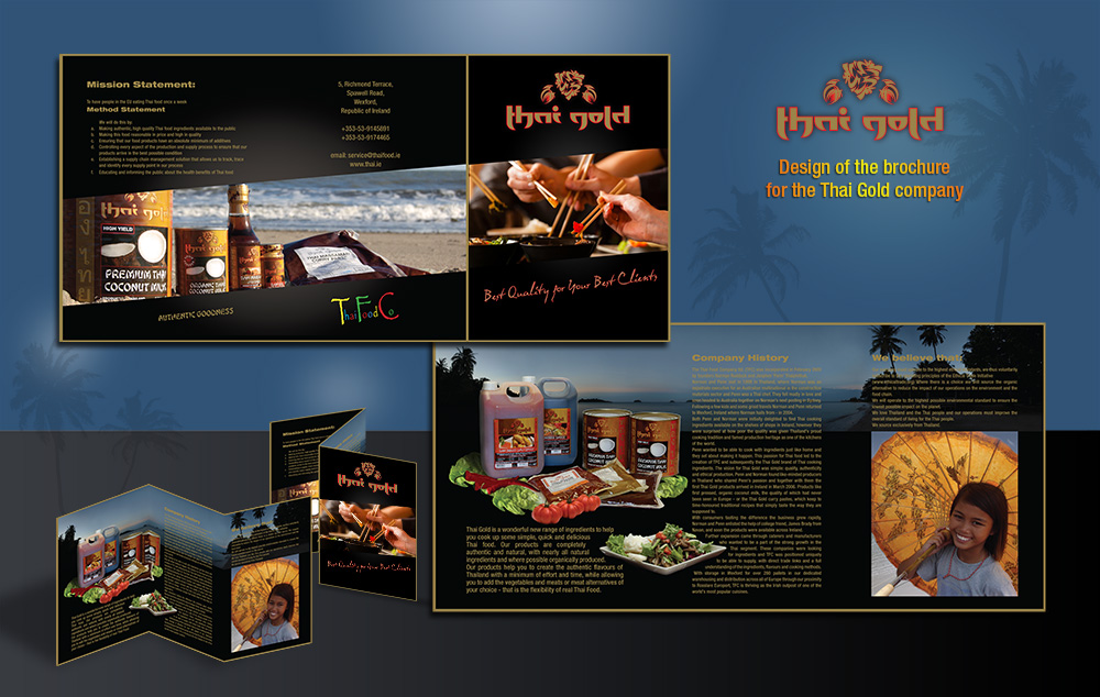 Brochure for Thai Gold company