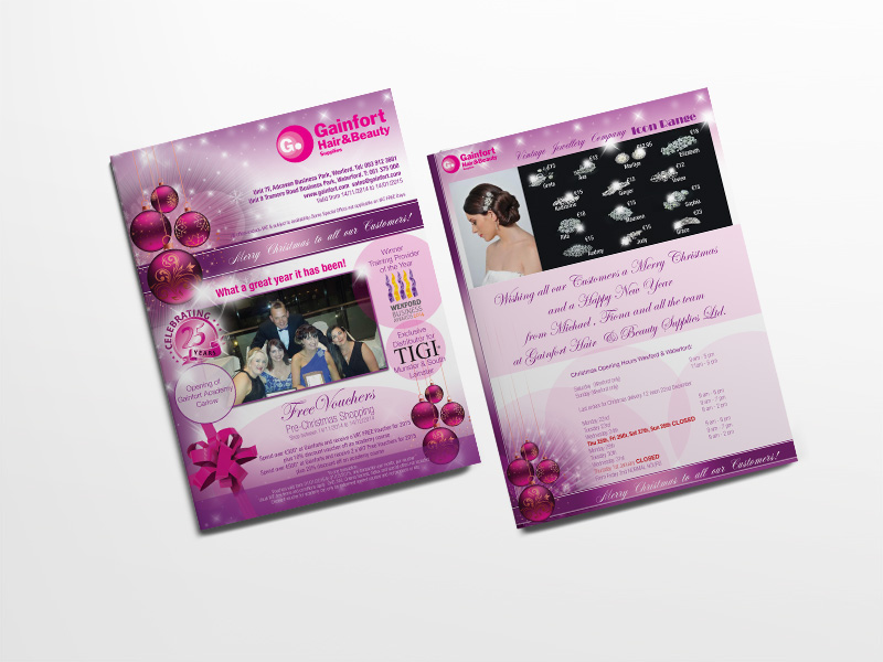 christmas leaflet design Wexford